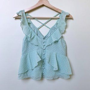 Abercrombie & Fitch Ruffle Tank Top